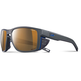 Julbo Shield Cameleon Sunglasses Dark Gray/Black/Blue-Brown